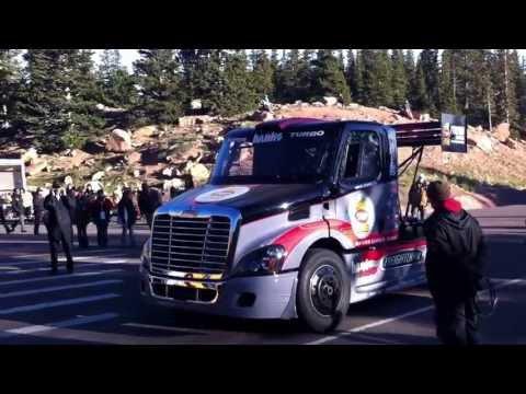 Pikes Peak 2013 startline: Mike Ryan's Freightliner Special truck