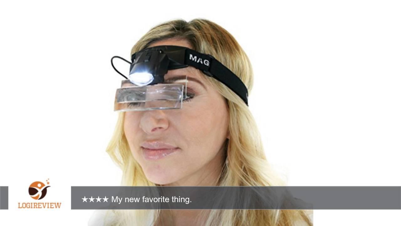 Dual Lens Magnifier Glasses W Led Light 5 Lens 1 0x 6 0x