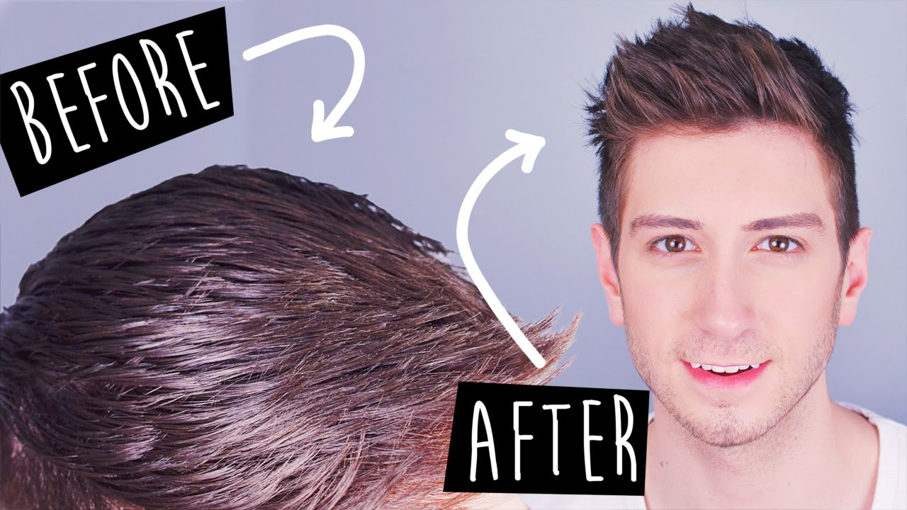 3 Tricks To Mattify Greasy Hair Men's Hairstyles YouTube