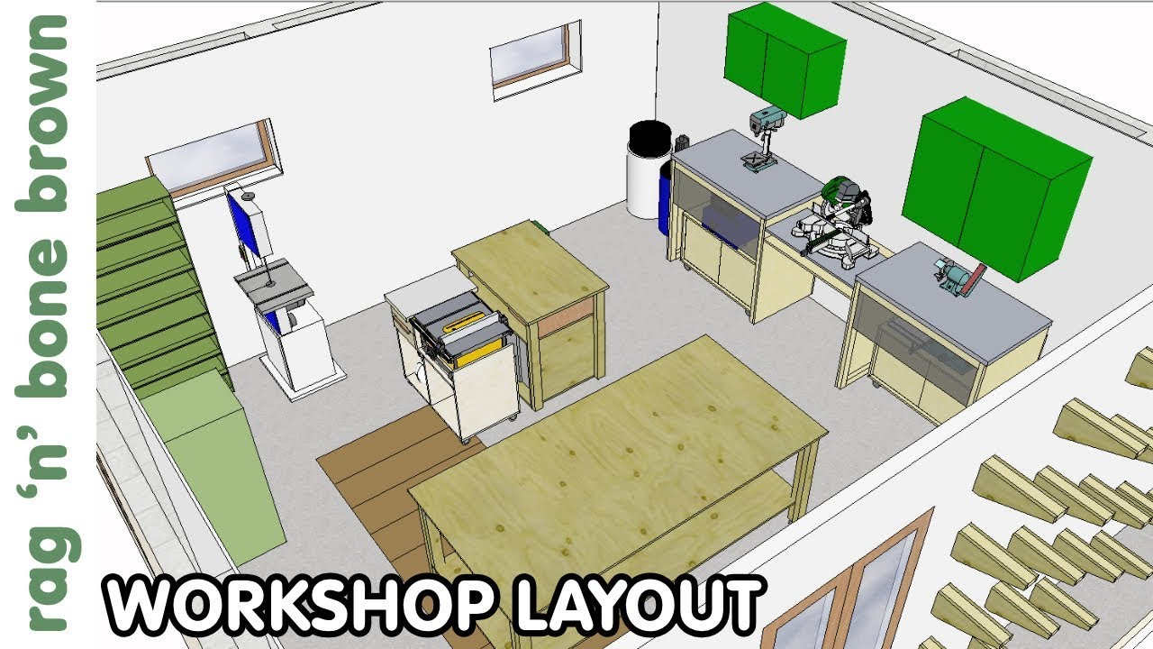Workshop Layout Space Planning New Workshop Episode 2 Youtube