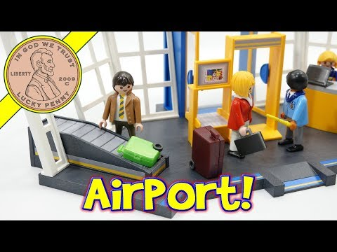 How To Build The Playmobil City Action Airport Control Tower & Jet