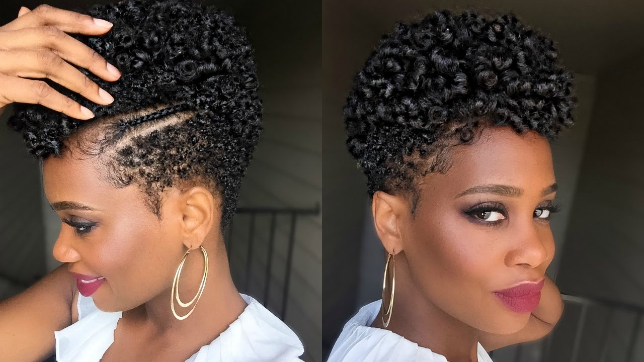 perm rod set on tapered natural hair in under an hour #1 | misskenk