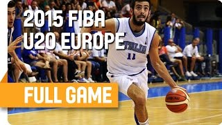 Italy v Ukraine - Classification 9-12 – Full Game - U20 European Championship Men(Watch live the game Italy against Ukraine at the U20 European Championship Men in Lignano-Sabbiadoro, Italy. Subscribe to our YouTube channel ..., 2015-07-17T18:41:17.000Z)