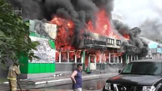 В Туле сгорел магазин