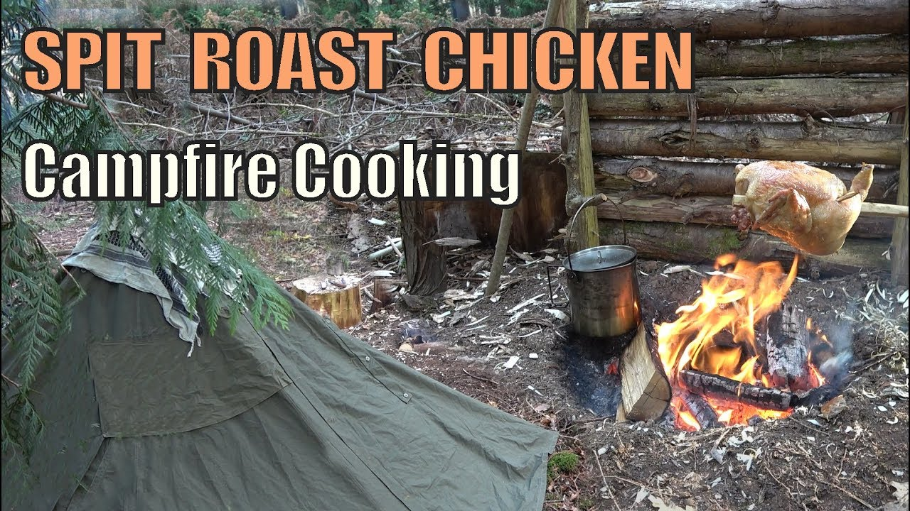 Campfire Chicken Wild Camping | Canvas Lavvu | DAY 1