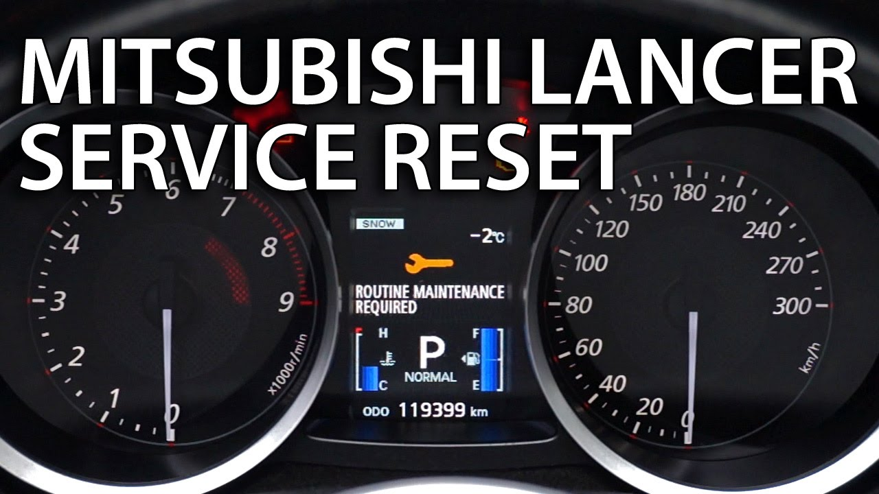 How To Reset Service In Mitsubishi Lancer X Routine