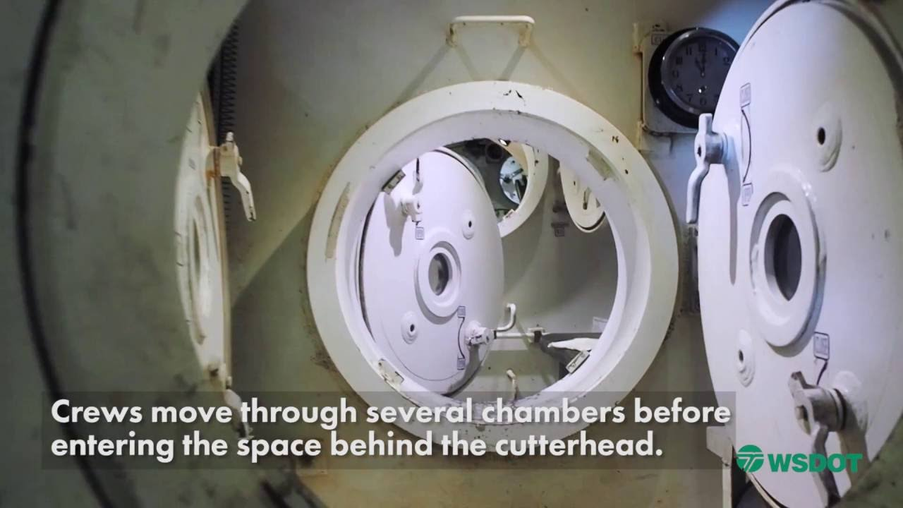Inside A Hyperbaric Chamber On The SR 99 Tunneling Machine