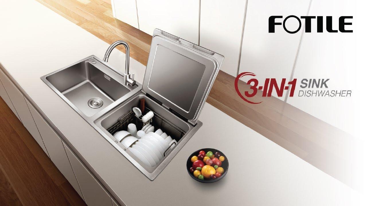 fotile 3 in 1 sink dishwasher sd2f p1x