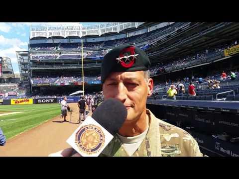Lt. Gen Kenneth Tovo at Yankee Stadium