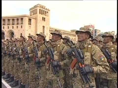 Военный парад в Ереване 21.09.2011 видео ролик