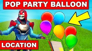 POP PARTY BALLOON DECORATIONS - ALL 5 LOCATIONS (14 DAYS OF SUMMER CHALLENGES FORTNITE)