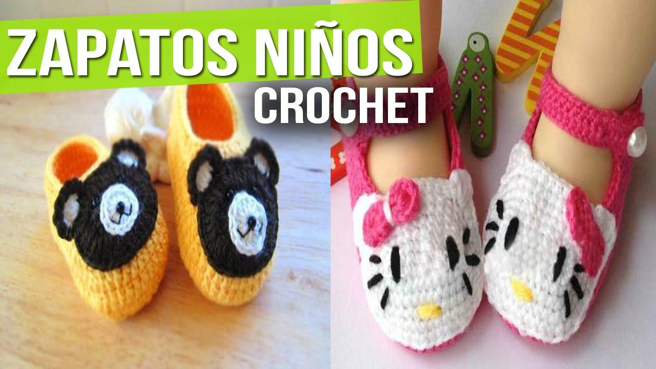 Zapatitos Para Niños y Bebes de Animales - Tejidos a Crochet ...