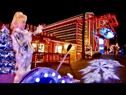 Opening Day of Dollywood Smoky Mountain Christmas 2018  Featuring Dolly Parton & NEW Glacier Ridge