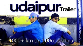 UDAIPUR Trip 1000KM on 100cc platina Trailer   The VENICE of east
