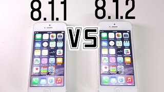 iOS 8.1.1 VS iOS 8.1.2 - Is It Faster, Wifi? + What