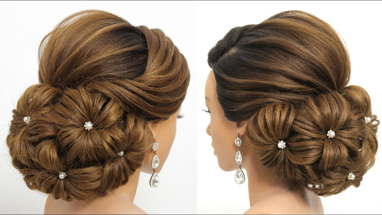 Bridal Updo Tutorial Wedding Prom Hairstyles For Long Hair Hairstyle Hair Style Girl Youtube
