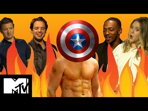 Captain America Civil War Cast Play GUESS THE MARVEL ABS | MTV Movies