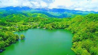 Drone Japan 4k ドローン 空撮映像 松原湖「君の名は。」聖地巡礼 新海誠監督 長野県小海町 新緑の八ヶ岳山麓 空中散歩
