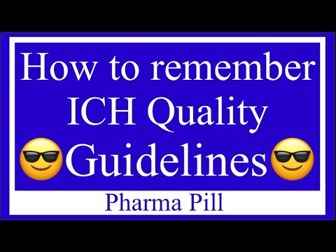 👨🏻‍🏫 Trick to remember ICH Quality Guidelines.