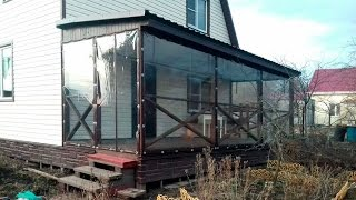 Мягкие прозрачные окна из пвх для веранды и террасы в п. сел.