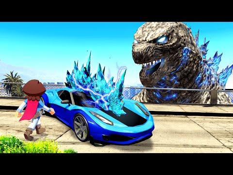Stealing GODZILLA CARS In GTA 5!