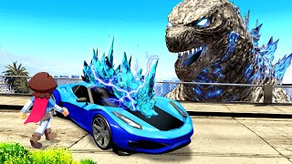 Stealing GODZILLA CARS In GTA 5!