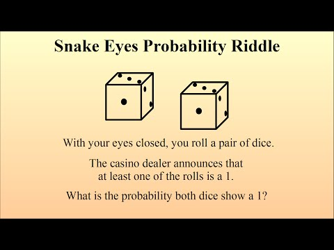 Can You Solve The Snake Eyes Probability Riddle?