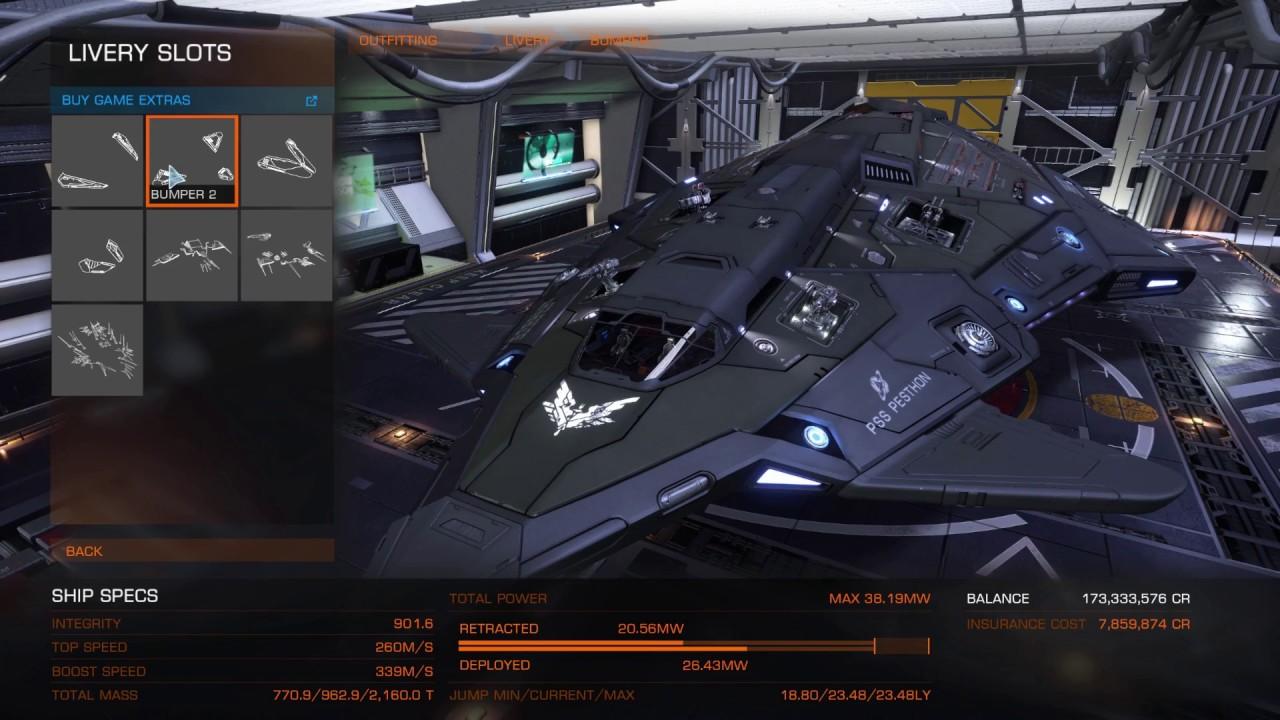Elite Dangerous Ship Kit Python Youtube