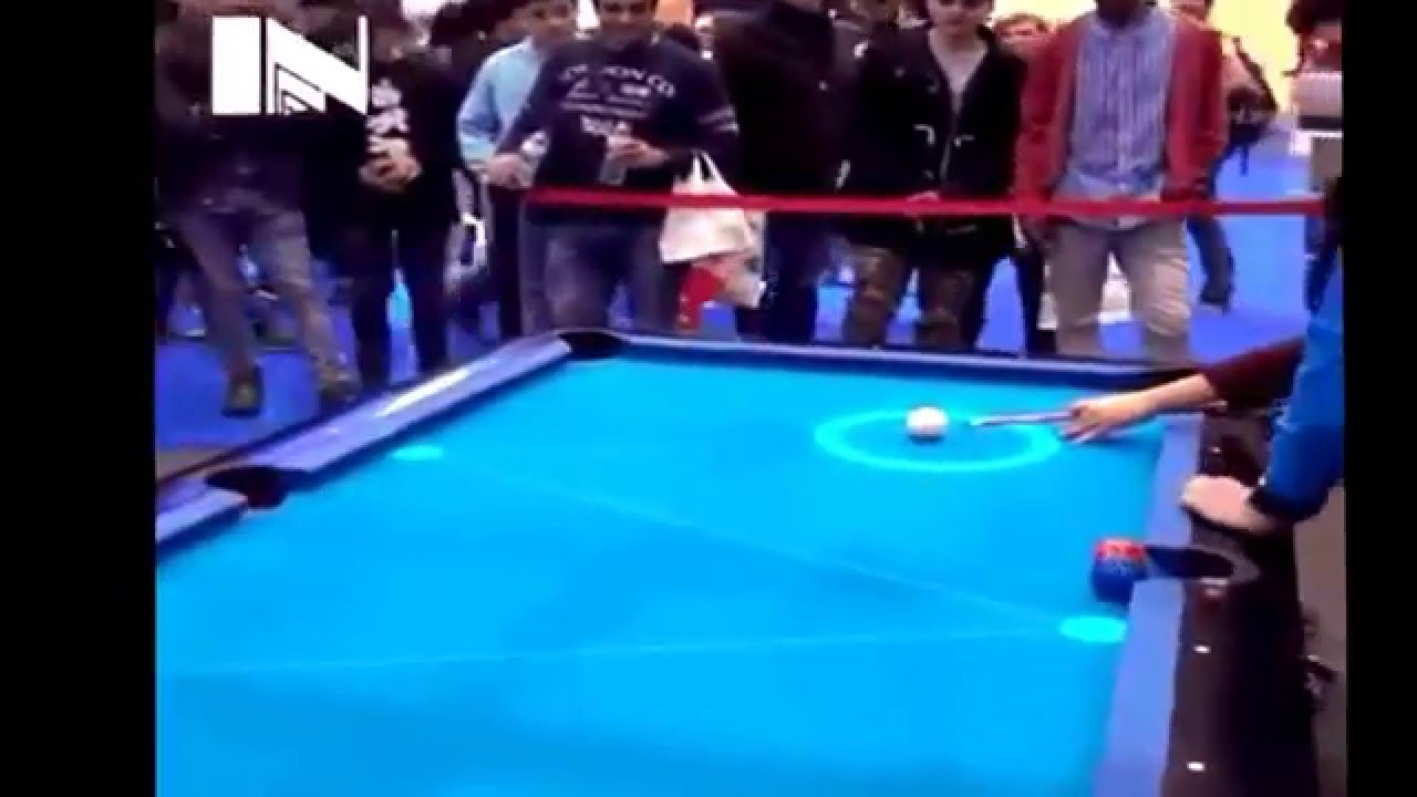 Interactive pool table.