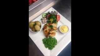 Salmon Wellington With Hollandaise Sauce.