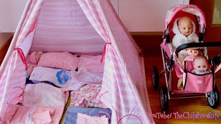 Baby Dolls Teepee Tent Bedroom  Nursery Center & Dolls Pram Baby Annabell Baby Born Nursery Rhymes