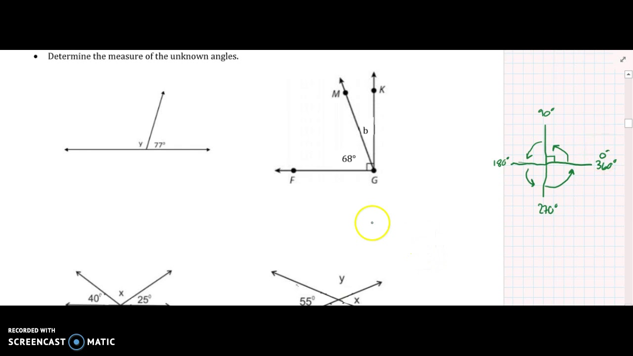 Geometry Lesson 4.1 Angles Formed by Intersecting Lines ...