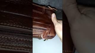 Классная сумка из нат. кожи. Обзор.