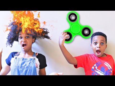 Thumbnail: Fidget Spinner Makes Shasha's HAIR LIT!!! - Shiloh and Shasha - Onyx Kids