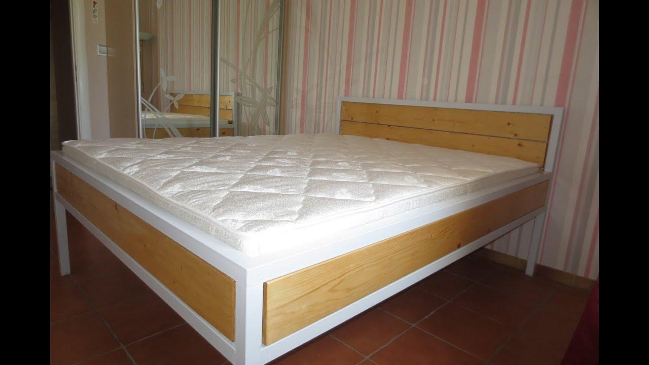 Bett Aus Metall Und Holz Bauen