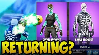 Are These RARE Skins Coming Back to Fortnite? (Skull Trooper, Black Knight, Renegade Raider)