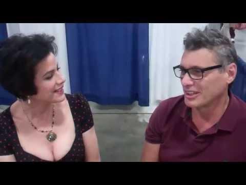 Miami's Saundra Santiago, Steven Bauer at Shock Pop CC Feb 2015