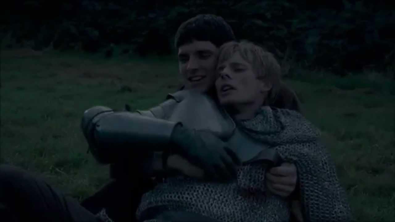 Merthur Version: Arthur dying in Merlin's arms - YouTube