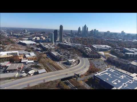 Aerial Views of West Midtown Atlanta
