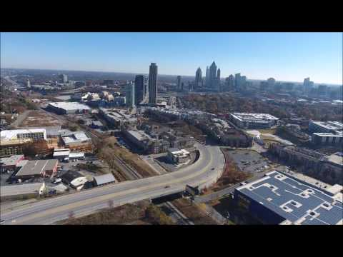 Aerial Views of West Midtown Atlanta