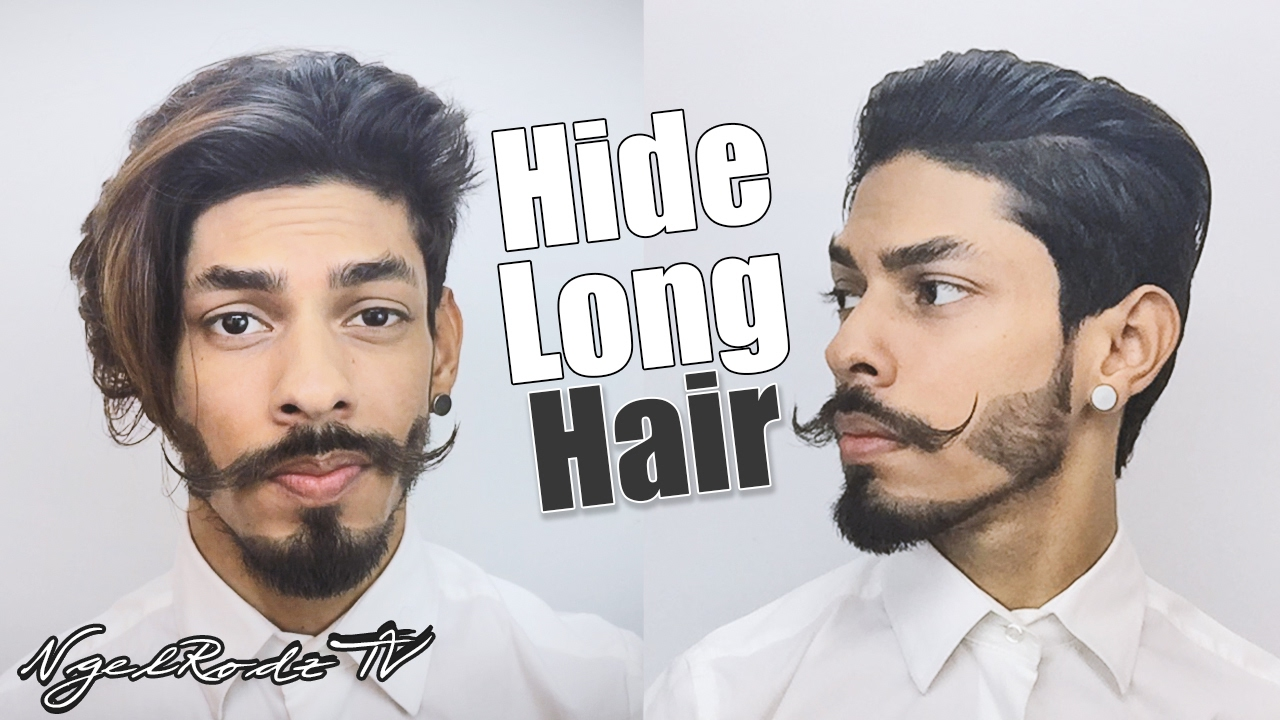 How To Hide Long Hair For Short Slickback Hairstyle Youtube