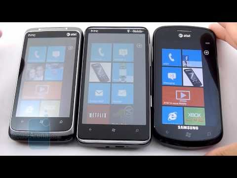 HTC HD7 vs HTC Surround vs Samsung Focus