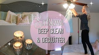 EXTREME DECLUTTER & DEEP CLEAN // CLEAN WITH ME 2017 // CLEANING MOTIVATION // MASTER BEDROOM