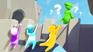 LET GO IF HE FINDS YOU! Dangerous Hide & Seek in Human Fall Flat! (The Pals play Human Fall Flat)