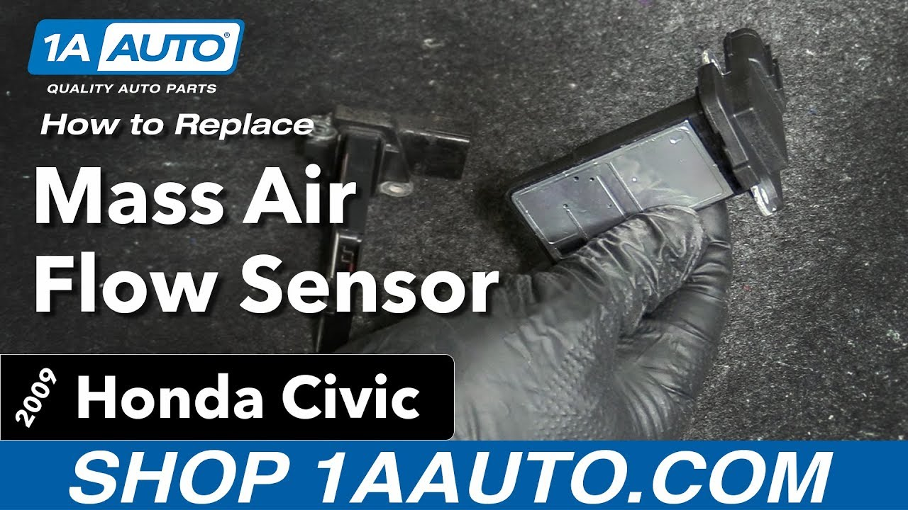 How To Replace Mass Air Flow Sensor 05 11 09 Honda Civic Youtube Toyota Maf Wiring Diagram