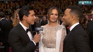 How Chrissy Teigen Avoided Wardrobe Malfunctions at Oscars 2017