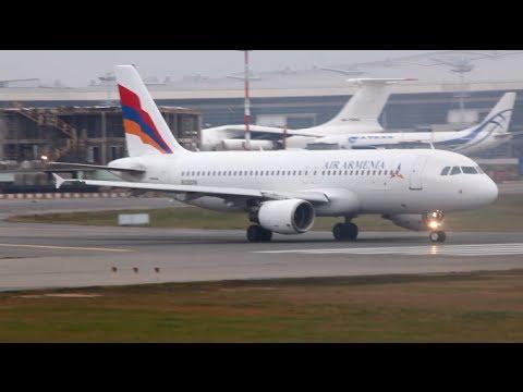 Air Armenia EK32039  Airbus A320-214 / Взлёт во Внуково (VKO/UUWW)
