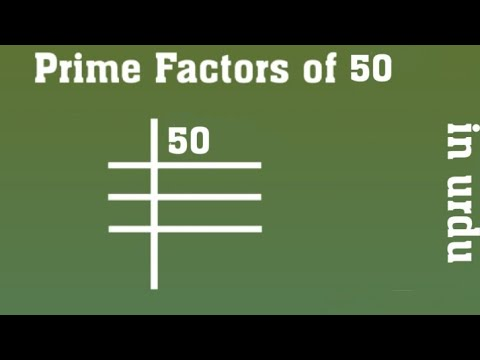 Prime Factors Of 50 Prime Factorization Youtube Learn how to calculate factors of 50 and factor pair of 50, how to calculate factoring factors of 50 in pairs. prime factors of 50 prime factorization