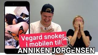 Vegard Harm snoker i mobilen til Anniken Jørgensen