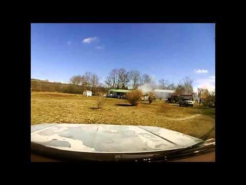 House Fire (Dash Cam) 2/19/2013 Ga 301 North at Alabama state line.